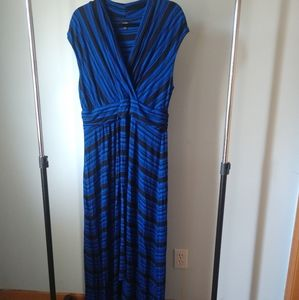Apt. 9  black and blue striped dress